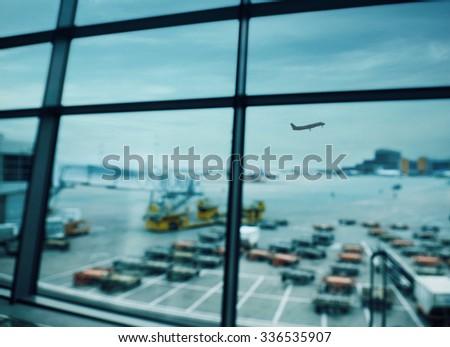View of International Airport Terminal - stock photo