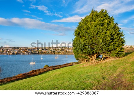 View of Kinsale town and harbor. Cork County, Munster, Ireland - stock photo