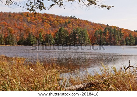 View of Lake Fortune - stock photo