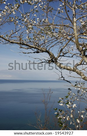 View of Lake Michigan in the Fall - stock photo