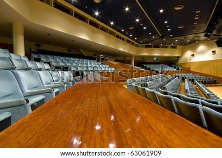 View of large and modern universitary auditorium - stock photo