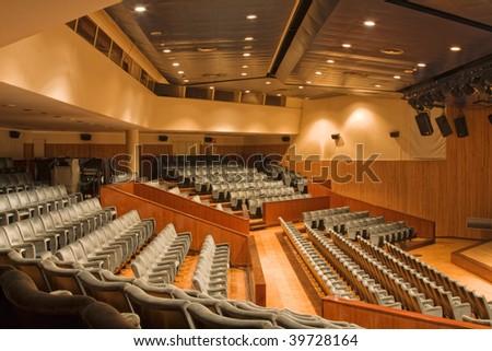 View of large and modern university auditorium - stock photo