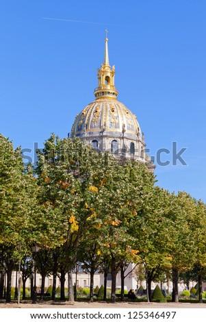 View of Les Invalides, Paris - stock photo