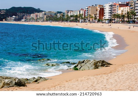 View of LLoret de Mar.Catalonia.Spain - stock photo