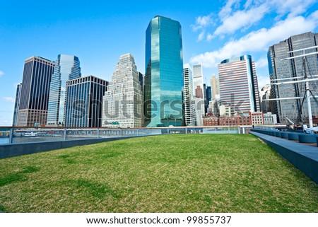 View of Manhattan, New York City. USA. - stock photo