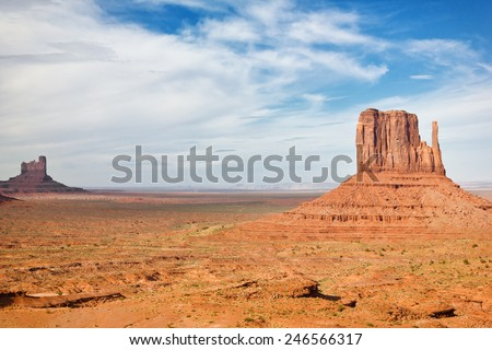 View of Monument Valley located in Arizona, US.  - stock photo