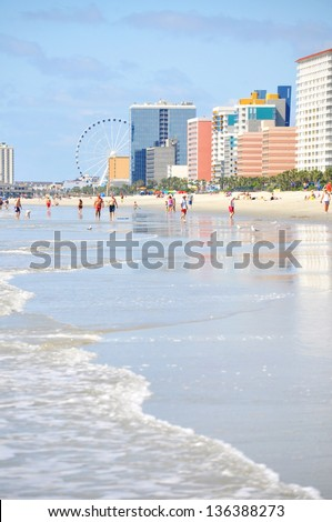 View of Myrtle Beach Seaside Resort - stock photo