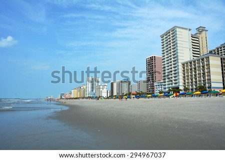 View of Myrtle Beach South Carolina - stock photo