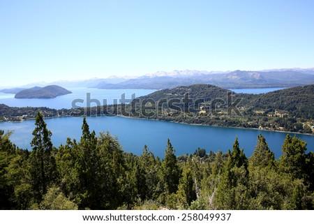 View of Nahuel Huapi lake- Argentina - stock photo