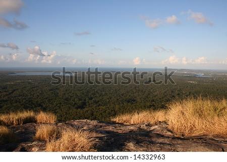 View of Noosa from Mount Cooroy, Sunshine Coast, Queensland, Australia - stock photo
