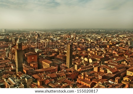 view of of the city. Bologna, Italy - stock photo