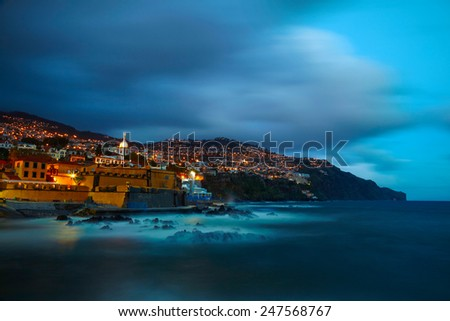 View of old castle Fortaleza de Sao Tiago. Funchal, Madeira, Portugal - stock photo
