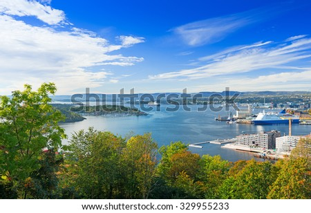 View of Oslo fjord, Norway - stock photo