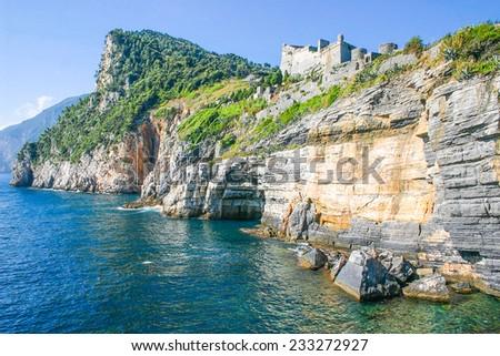 View of Portovenere, Italy - stock photo