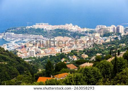 view of Principality of Monaco - stock photo