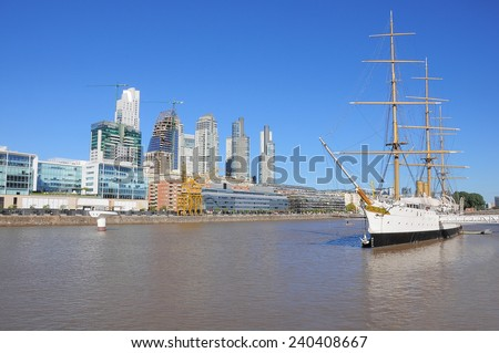 View of Puerto Madero, Buenos Aires, Argentina  - stock photo