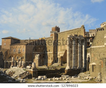 View of Roman Forum. An icon of Italy - stock photo