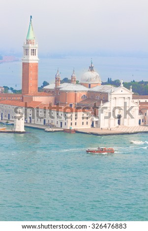 view of San Giorgio island and lagoon, Venice, Italy - stock photo