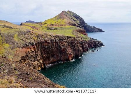 View of Sao Laurenco Peninsula in Madeira, Portugal - stock photo