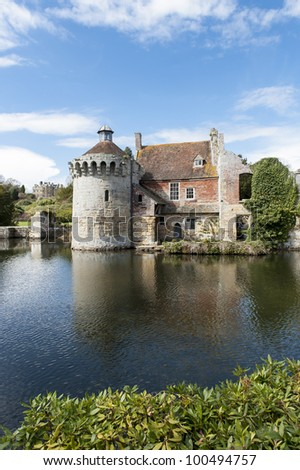 view of scotney castle in kent England - stock photo