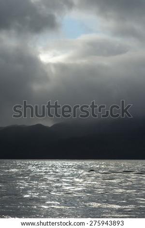 View of seascape, Skeena-Queen Charlotte Regional District, Hippa Island, Haida Gwaii, Graham Island, British Columbia, Canada - stock photo