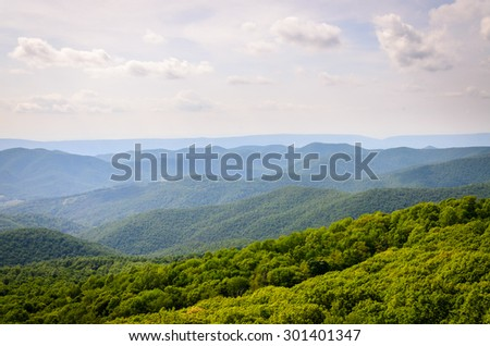 View of Shenandoah National Park - stock photo