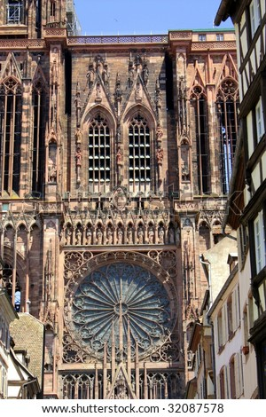 View of Strasbourg Cathedral - stock photo