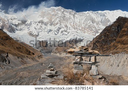 View of the Annapurna - stock photo