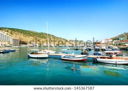 View of the bay of Balaklava in Crimea - stock photo