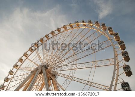 view of the big wheel in zaragoza, spain - stock photo
