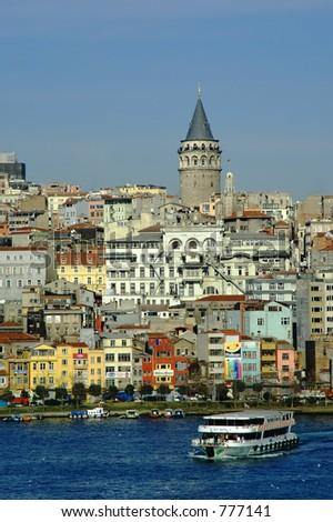 View of the bosporus, Istanbul turkey - stock photo