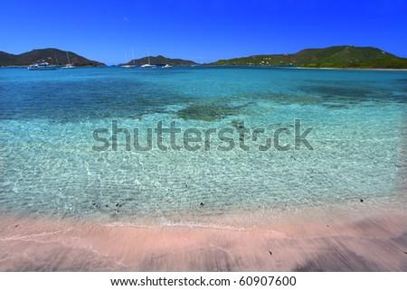 View of the Caribbean island Tortola - British Virgin Islands - stock photo