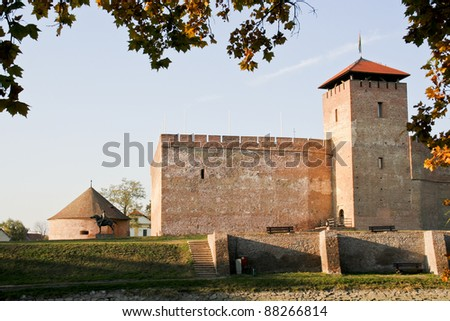 View of the castle of the Hungarian city of Gyula - stock photo