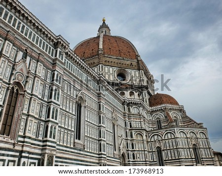View of the cathedral of Florence, Italy - stock photo