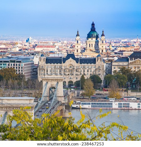 View of the city, Budapest, Hungary - stock photo