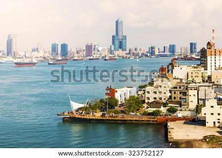 view of the city in Kaohsiung - Taiwan - stock photo