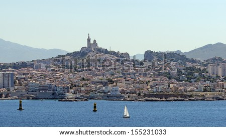 View of the city of Marseille in France - stock photo