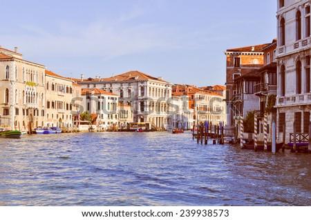 View of the city of Venice (Venezia) in Italy - stock photo