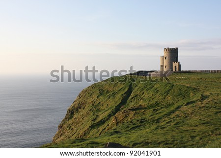 View of the Cliffs of Moher in Ireland - stock photo