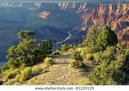 View of the Colorado River, Grand Canyon National Park - stock photo