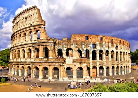 View of the Colosseum, Rome, Italy             - stock photo