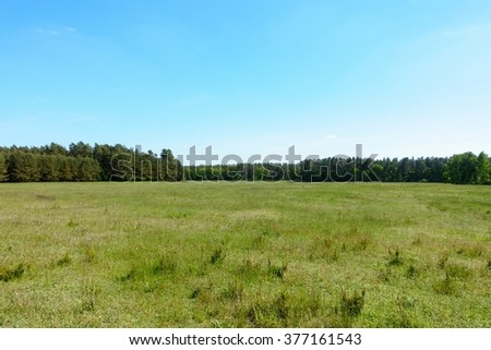 View of the countryside near Berlin, Germany in summer. - stock photo