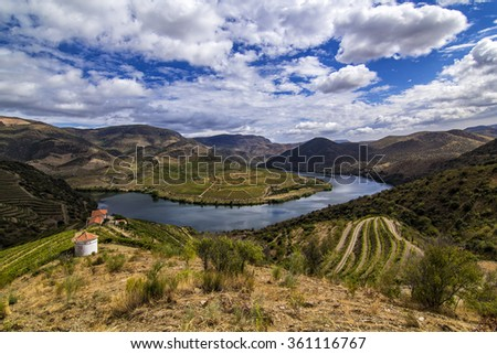 View of the Douro River, Douro Valley, Portugal - stock photo