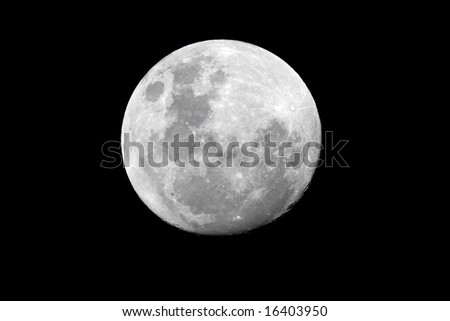 View of the full moon over the African continent - stock photo