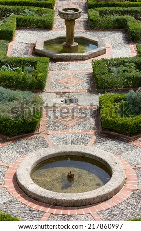 View of the Garden of the Cimiez Monastery in Nice, France - stock photo