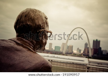 View of the Gateway Arch - St Louis, Missouri - stock photo