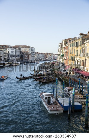 View of the Grand Canal, Venice, Italy - stock photo