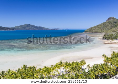 View of the Hamilton Island Reef, at Hamilton Island on the Great Barrier Reef - stock photo