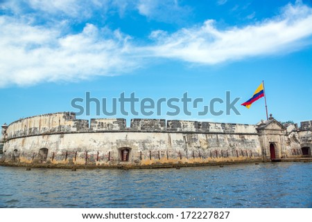 View of the historic Bocachica Fort near Cartagena, Colombia - stock photo