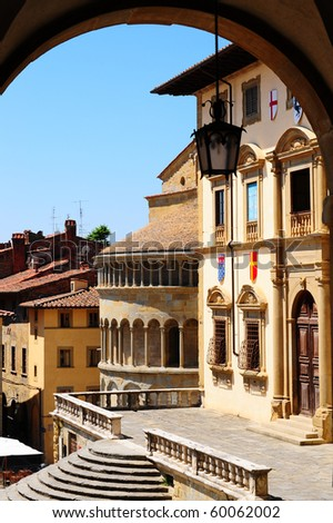 View Of The Historic Center Of Arezzo, Italy - stock photo